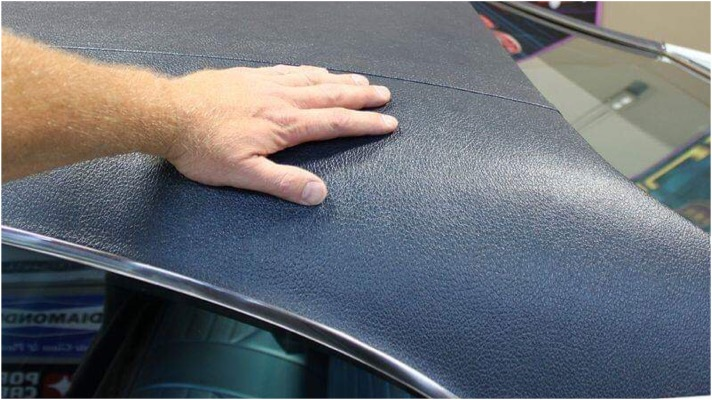 How do I find out if my convertible top is fabric or vinyl