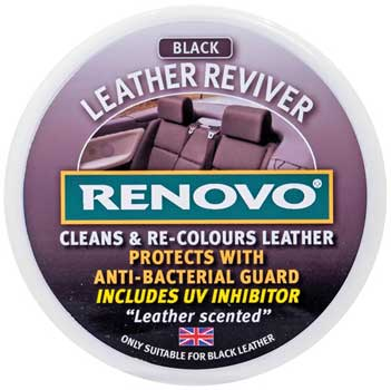 Cleans and revives leather seats
