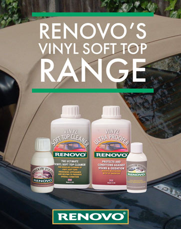Renovo Vinyl Soft Top Care Range